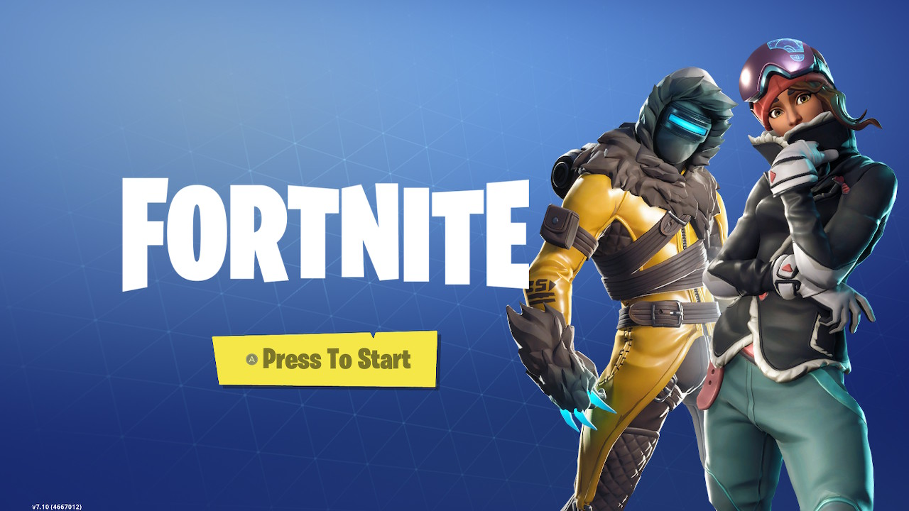 The main Fortnite loading screen